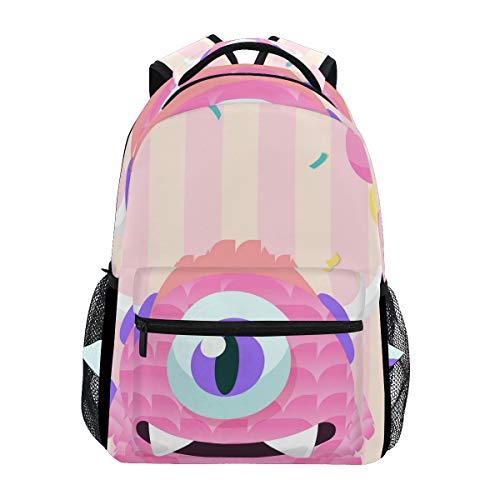 418bxVcpPHL - Mochila Escolar Rosa Monster Student Mochila Grande para niñas niños Escuela Primaria Bolsa de Hombro Bolsa de Libros