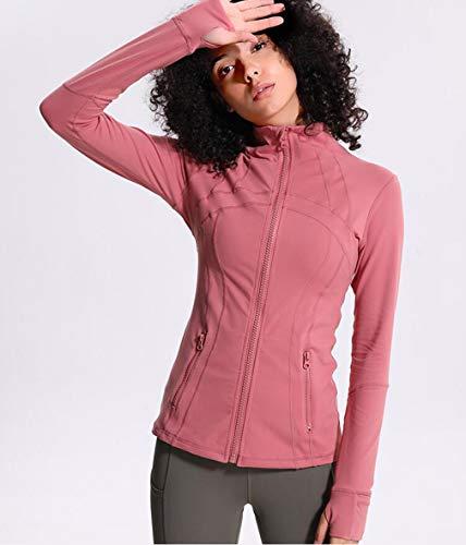HCYTPL Yoga SetYoga Fitness Jacket Dames kraag dunne stretch rits sportjas loop lange mouwen top