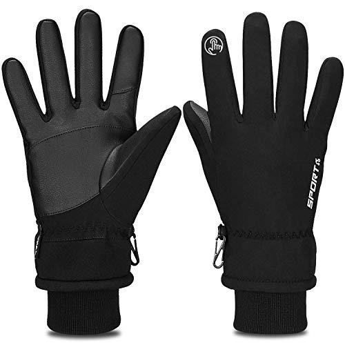 Yobenki Warm Winterhandschuhe Fahrradhandschuhe wasserdichte Touchscreen Handschuhe Skihandschuhe rutschfest Sporthandschuhe Unisex für Snowboarden, Motorrad