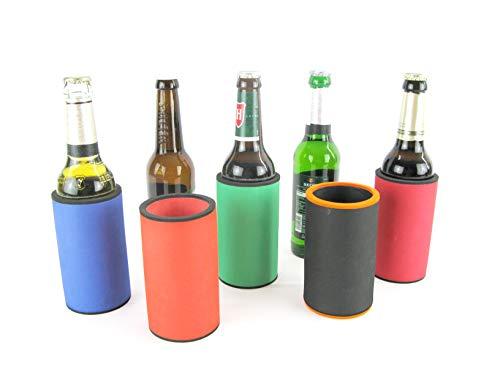 asiahouse24 5X Bunte Mischung Getränkekühler - Bierkühler - Flaschenkühler für Langen 0,33L Bierflaschen aus bestem 5-6mm dicken Neopren für Beste Kühlung - Qualitätskühler Modell 2021