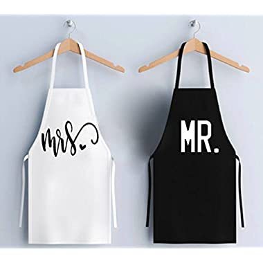 The Mandola Twins MR. AND MRS. APRON SET Novelty Apron Gift