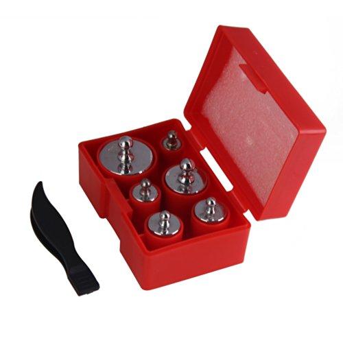 Demiawaking 6 Stücke 100g 50g 20g 10g 5g Gramm Präzision Kalibrierung Schmuck Skala Gewicht