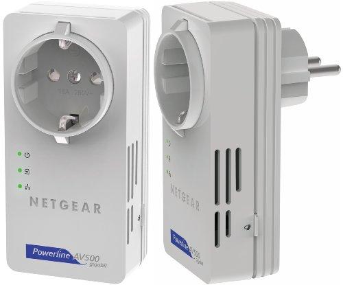Netgear XAVB5601 - Adaptador de comunicación por línea eléctrica (Indicadores LED, 4.25 W, 500 MB s), Color Blanco
