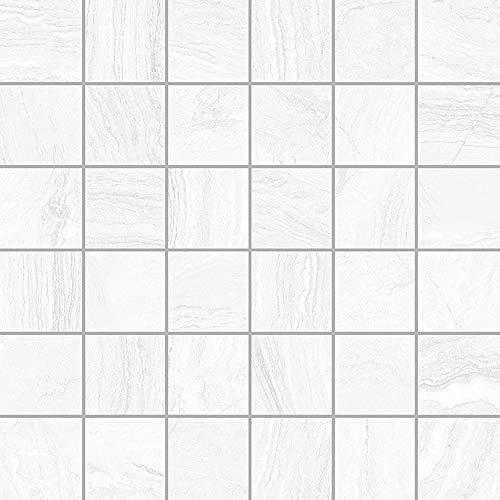 Gayafores 2012116 Azulejo de porcelana, blanco, 6