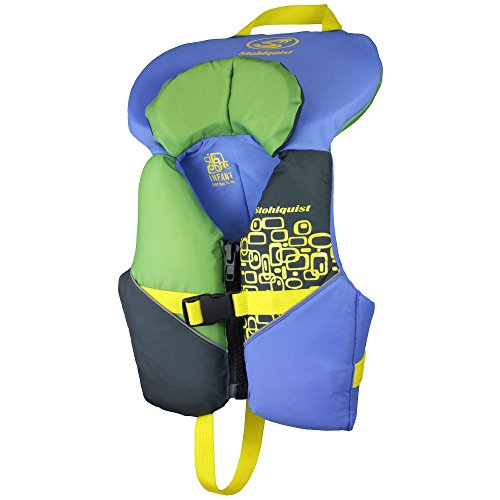 Stohlquist Toddler Life Jacket Coast Guard Approved Life Vest for Infants-Blue/Green-Infant