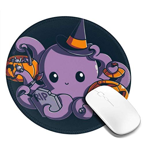 Yuanmeiju I Halloween Customized Designs Non Slip Rubber Base Gaming Mouse Pads for Mac,7.9x7.9 in Pc, Computers. Ideal for Working Or Game