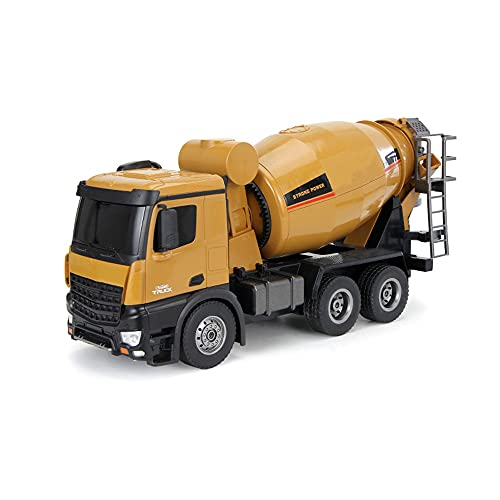 QHYZRV 1:14 Camión De Tambor De Control Remoto De Sonido Y Luz Camión Mezclador De 2.4GHz Camión De Ingeniería De Carga Multifunción Juego De Múltiples Escenas Juguetes De Control Remoto Niños