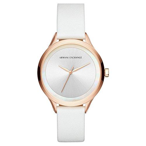 Armani Exchange Reloj Analógico para Mujer de Cuarzo con Correa en Cuero AX5604
