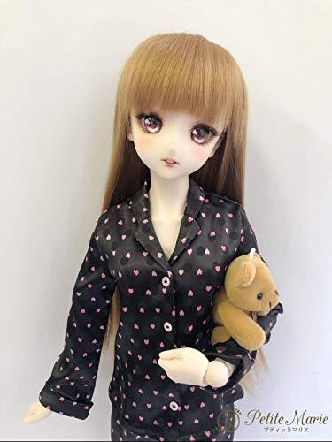 【Petite Marie】 1/3 SD DD対応 パジャマ ハート柄 ルームウェア黒60cm ドール BJD 人形服【プティットマリエ】