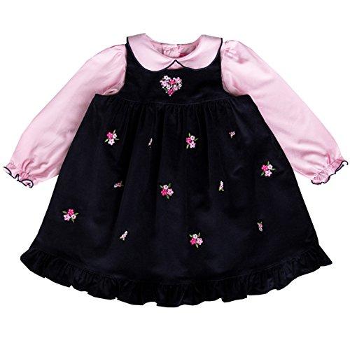 Entzückendes Mädchen Kordkleid inkl. Langarm-Shirt Gr. 74,80,86,92,98,104,110,116,122 Größe 104