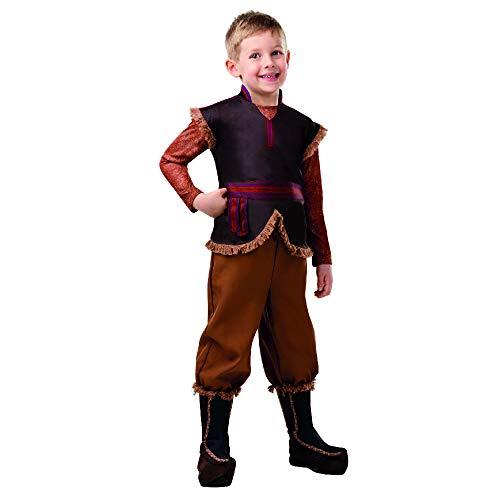 Rubies - Disfraz oficial de Disney Frozen 2, Kristoff Deluxe para niños, tamaño mediano, edad de 5 a 6 años