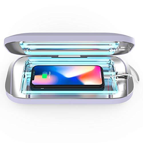 PhoneSoap Pro UV Higienizante para Teléfonos Inteligentes Y Cargador Universal |Desinfectante De Luz Ultravioleta Patentado Y Clínicamente Probado |(Lavanda)