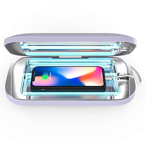PhoneSoap Pro UV Smartphone Sanitizer & Universal Charger | Patented & Clinically Proven UV Light Disinfector | (Lavender)