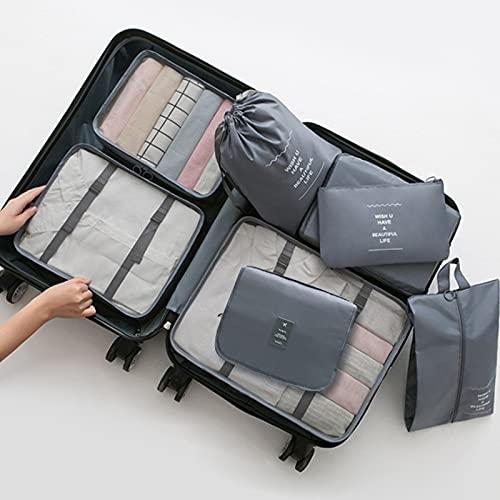 Wmeat-P Bolsas de almacenamiento de viaje para ropa, bolsas de almacenamiento de ahorro de espacio, para ropa, bolsa de zapatos, bolsa de almacenamiento, juego