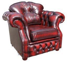 Designer Sofas4u Chesterfield Era Alta della Poltrona in Pelle Stile Antico Oxblood