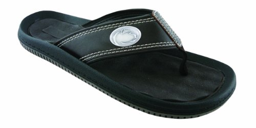 NCAA Penn State Nittany Lions Men's Waffle Concho Flip Flops, Brown, 13