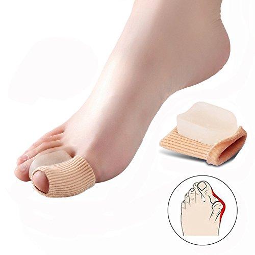 2 separadores de dedos de gel suave de silicona para terapia de juanetes, prevención del dolor y la relajación de los pies, tejido elástico, dos dedos, protector de juanetes, para mujeres, hombres y niños