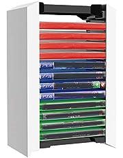 Queen.Y Playstation 5 Premium Juego Torre de Almacenamiento Soporte Juego Caja de Disco Estante de Almacenamiento 12 Juegos Soporte de Disco Estante de Almacenamiento para Ps5 Discos de