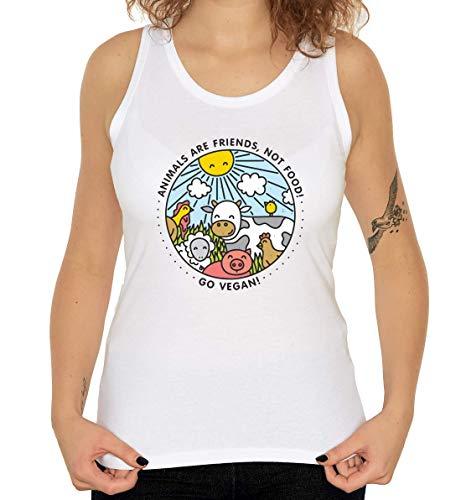 Iprints Animals Are Friends Not Food Vegan Vegetarian Women's Tank Top T-Shirt