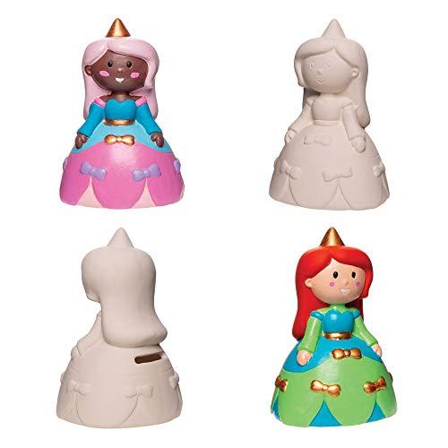 """Baker Ross Keramik-Spardosen """"Prinzessin"""" (2 Stück) – süße Spardosen für Kinder"""