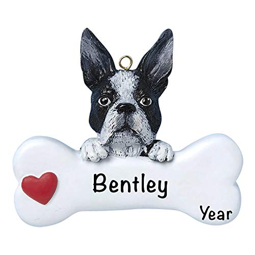 Boston Terrier Personalized Ornament- Unique Dog Christmas Tree Ornament - Special Fur-Ever Keepsake - Custom Pet Decoration - Personalization Included