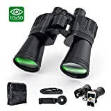 Binoculars for Adults, Sinohrd 10x50 Compact Powerful HD Binoculars for Bird Watching,Traveling,Hunting Telescope