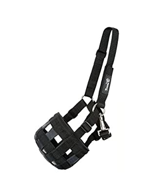 Tough 1 Poly/Nylon Grazing Muzzle with Halter Mini, Black by JT International, Inc.