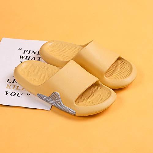XZDNYDHGX Zapatillas Unisex Antideslizantes,Zapatillas de Interior para el hogar para Mujer, Chanclas para el baño, Pareja, Familia, Zapatos Planos, Sandalia de Hotel, Amarillo, EU 38-39