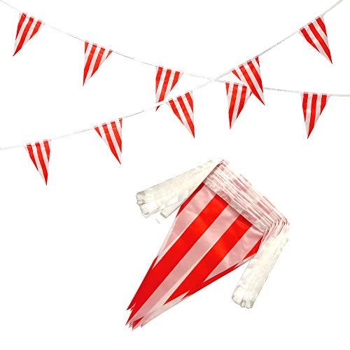 100 Feet Red & White Striped Pe…