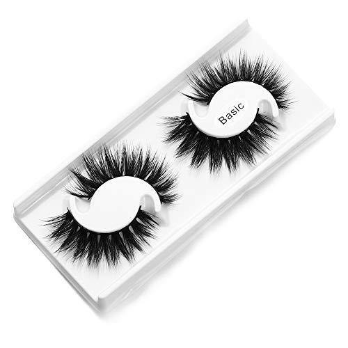 Nopera Belle Croisement Pinus microphylla Outil de maquillage 5D vison hair Faux cil Cils de 25 mm Mascara Extension(Basic)