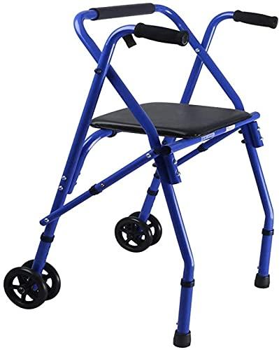 dh-2 Andador con Andador Andador para Ancianos, Andador de 2 Ruedas, Andador, Ayuda para Caminar Plegable, Andador Ligero, para Ancianos y discapacitados
