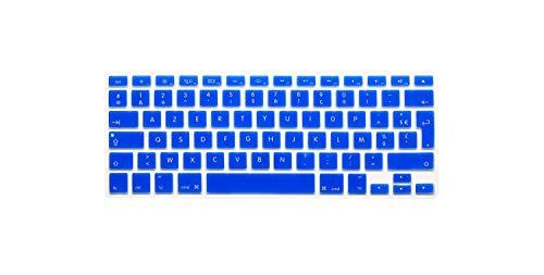 Membrana della tastiera French Keyboard Cover Franch UK/EU Silicone Skin Soft Color for Macbook Pro 13' 15' 17' Air 13 inch Protective Film,Blue1
