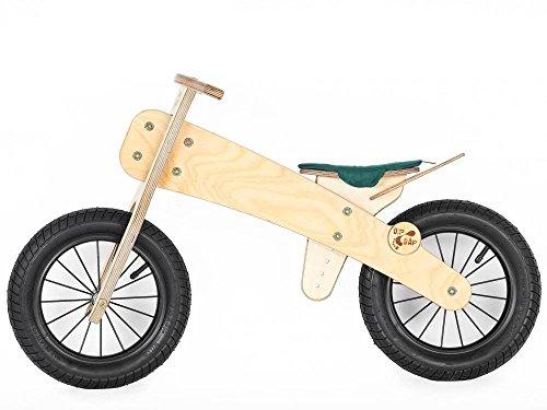 Luxus Lauflernrad / Laufrad - Balance aus Holz Kinder Fahrrad Laufrad Classic DipDap Grün mini für Kinder ab 2 Jahren