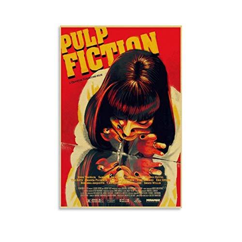 jiaobaba Pulp Fiction Poster, dekoratives Gemälde, Leinwand, Wandkunst, Wohnzimmer, Poster, Schlafzimmer, Malerei, 30 x 45 cm