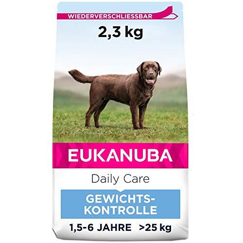 Eukanuba Daily Care Weight Control für große Rassen - Fettarmes Hundefutter zum Gewichtserhalt oder Diät bei Übergewicht, 2,3 kg
