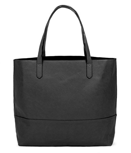 Overbrooke Large Vegan Leather Tote Bag - Womens Slouchy Shoulder Bag with Open Top