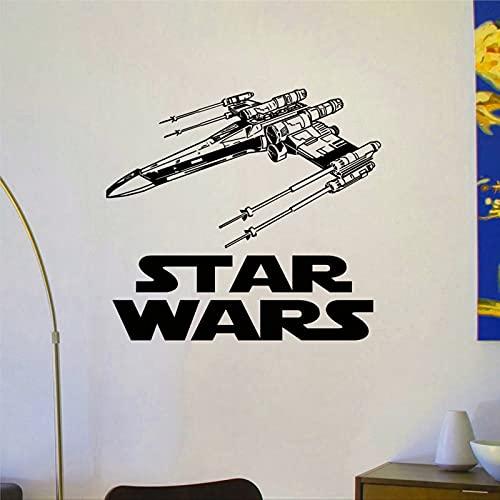 X Wing Fighter pegatinas de pared diseño interior habitación de niños dormitorio dormitorio extraíble DIY arte decoración de pared mural arte decoración del hogar lh262