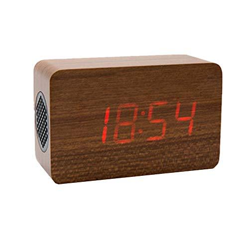 BOENTA Reloj Despertador analogico Despertador analogico Relojes de Alarma de Noche Reloj de Alarma Inteligente El Reloj de Alarma Red