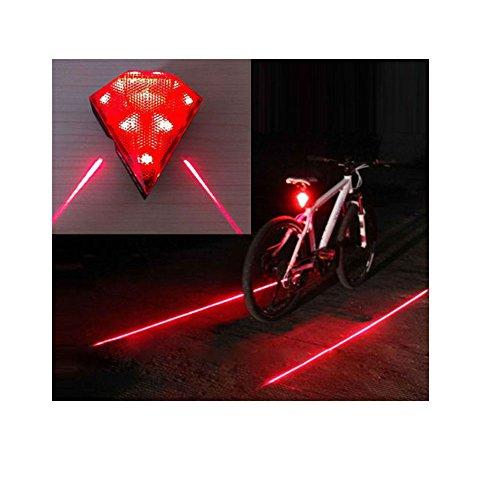 Cycling Bicycle Bike Rear Tail Safety Warning 8 LED+ 2 Laser Flashing Lamp Light Top Selling Item