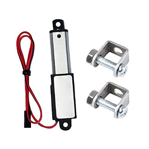 Micro Linear Actuator Mini électrique étanche Avec Supports de Montage 12V 60N Longueur 50 mm Stroke Vitesse 15mm