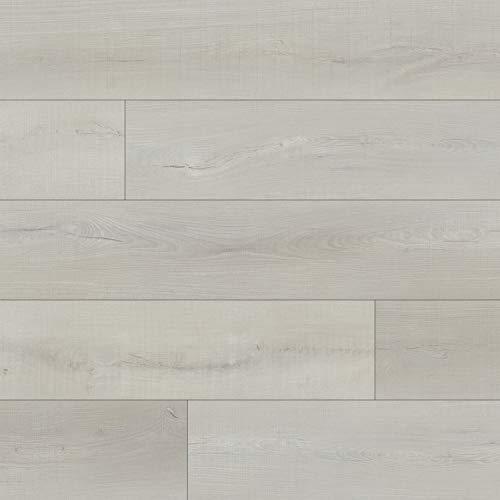 M S International AMZ-LVT-0129P Luxury Vinyl Planks LVT Tile Click Floating Floor Waterproof Rigid Core Wood Grain Finish Rutledge, Pallet, White Shores, 1307 Square Feet