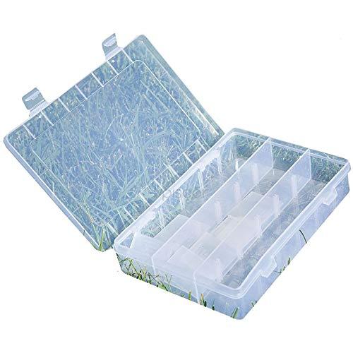 Lineaeffe Boîte Poly 7 20 x 14.5 x 4 cm Boîte de Pêche Rangement Accessoire Leurre Hameçon Compartiment Plastique