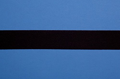 Rewagi - Veloursband zum Nähen - Verkaufseinheit 5 Meter (Breite 50mm, schwarz)