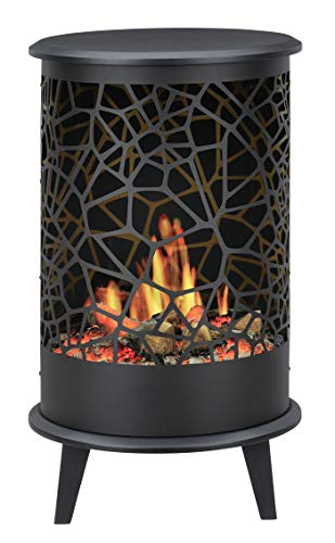 Faber opti-v 360 ° Indoor Freestanding FireplaElectric BLACK – Kamin (420 mm, 360 mm, 705 mm, 12 kg, 474.6 mm, 406.8 mm)