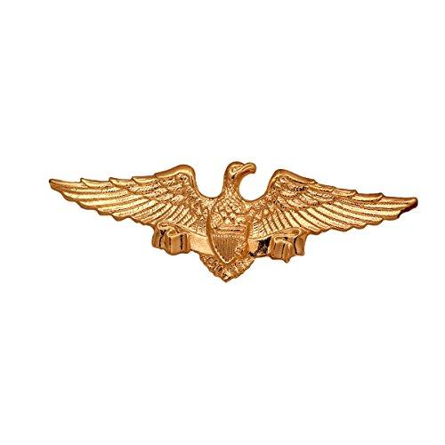 Männer 's Elegant Fashion Golden Heftig Adler Brosche Revers Partei Kragen Pin