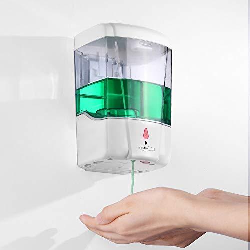 LemonBest® 600ml Montaje en Pared Dispensador Automático de Jabón Sensor IR Bomba de Loción de Jabón sin Contacto Para la Cocina y el Baño