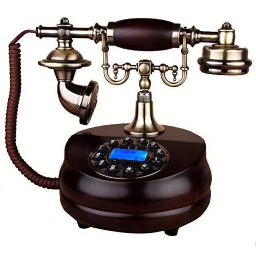 Interfono telefónico antiguo de cuerda. Estilo antiguo de botón pulsador, teléfono de marcación rotativa, teléfono clásico con cable, decoración fija para el hogar y la oficina, una variedad de estilo