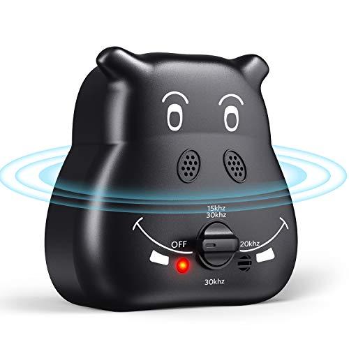ulocool Anti-Bellen-Gerät, Ultraschall Hunde Repeller mit 3 einstellbaren Ultraschall-Lautstärkepegeln, Sichere und Schmerzfreie Hunderkontrolle für den Innen und Außenbereich (Schwarz)