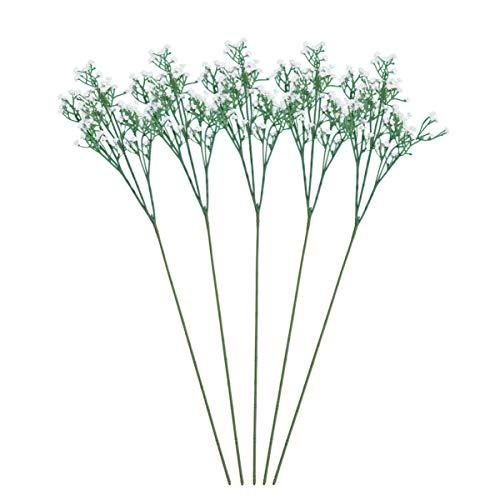 VOSAREA 5 Piezas Flor Falsa Artificial gypsophila Mesa de Fiesta en casa decoración de Boda Ramos de Flores