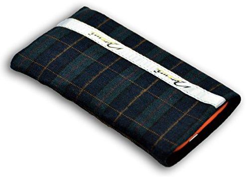 Norrun Handytasche / Handyhülle # Modell Fokka # ersetzt die Handy-Tasche von Hersteller / Modell Wiko Sublim # maßgeschneidert # mit einseitig eingenähtem Strahlenschutz gegen Elektro-Smog # Mikrofasereinlage # Made in Germany